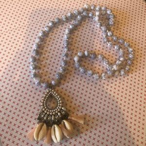 BAUBLEBAR- shell and tassel necklace